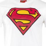 Tee shirt manches courtes logo superman tricolore homme marque pas cher prix dégriffés destockage