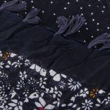 Foulard à pois et motifs fleuris bleu marine femme RED SOUL marque pas cher prix dégriffés destockage