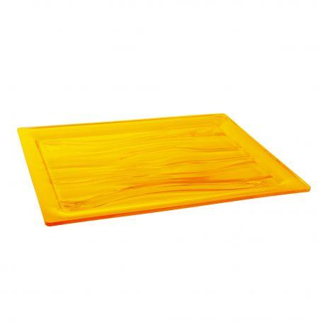 Grand plateau en plexiglas orange GUZZINI marque pas cher prix dégriffés destockage