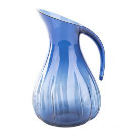 Carafe 2 litres bleue en plexiglas GUZZINI marque pas cher prix dégriffés destockage