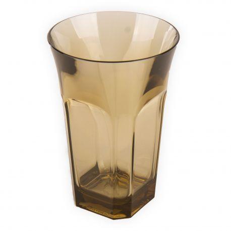 Grand verre en plastique beige GUZZINI marque pas cher prix dégriffés destockage