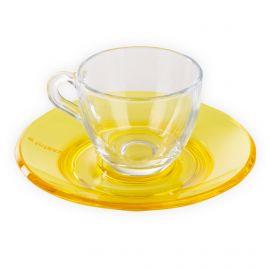 Tasse à café + sous tasse colorée GUZZINI marque pas cher prix dégriffés destockage