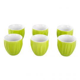 Lot de 6 tasses a café vert GUZZINI marque pas cher prix dégriffés destockage