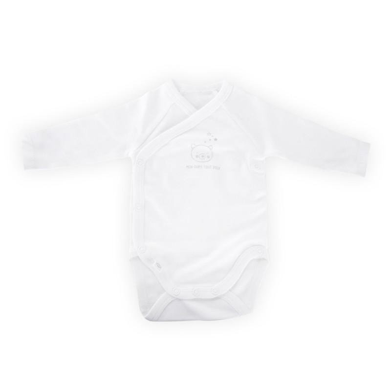 Lot de 2 body blanc et beige bébé ABSORBA marque pas cher prix dégriffés destockage