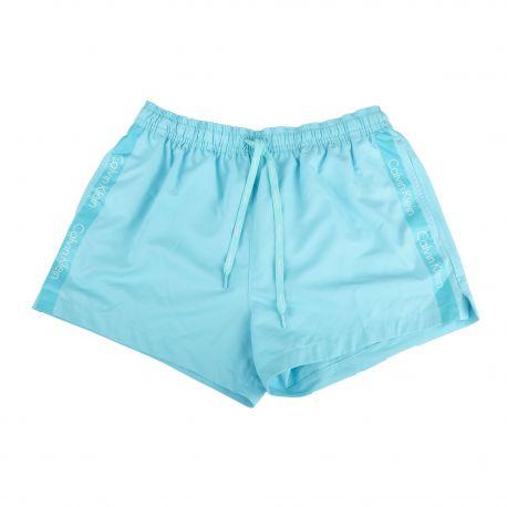 Short de bain bleu turquoise homme CALVIN KLEIN marque pas cher prix dégriffés destockage