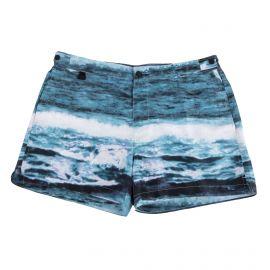Short de bain bleu motif mer homme CALVIN KLEIN marque pas cher prix dégriffés destockage