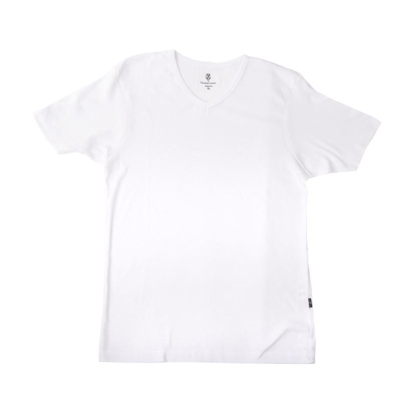 Tee shirt basique col V homme CHRISTIAN LACROIX marque pas cher prix dégriffés destockage