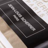 Fouta en éponge bi-colore floqué JEAN LOUIS SCHERRER marque pas cher prix dégriffés destockage