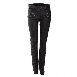 Pantalon slim enduit noir femme ELEVEN PARIS