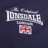 Polo bleu marine logo homme LONSDALE marque pas cher prix dégriffés destockage
