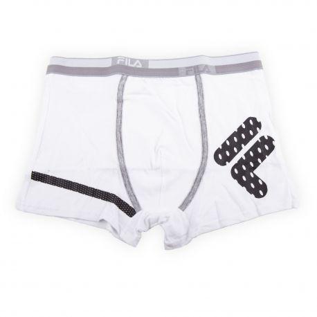 Boxer bi-colore logo homme FILA marque pas cher prix dégriffés destockage