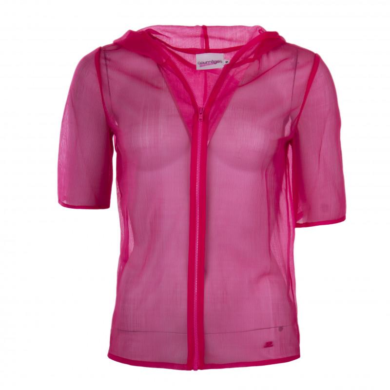 Veste en voile côtelée manches 3/4 femme COURREGES marque pas cher prix dégriffés destockage