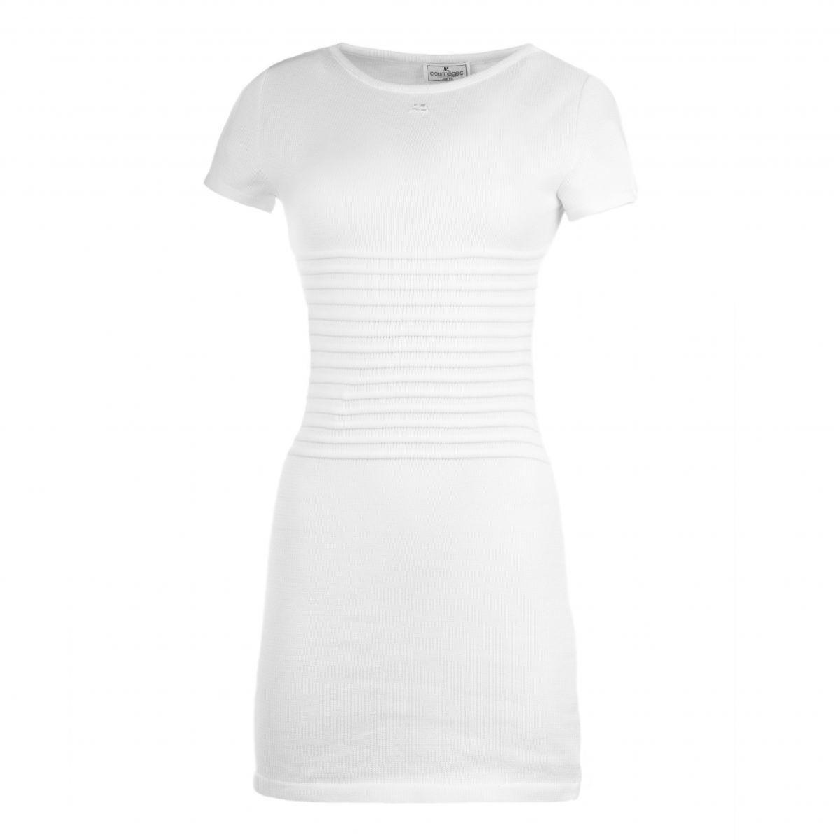 ce3d7673592 Robe en maille détails striés femme COURREGES marque pas cher prix  dégriffés destockage ...