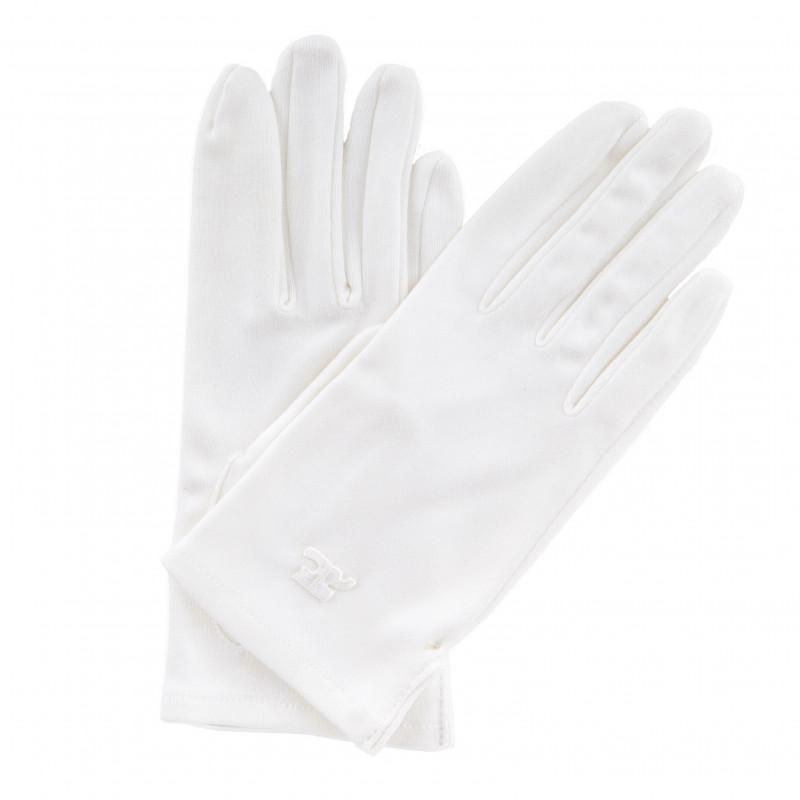 paire de gants blancs femme courreges prix d griff. Black Bedroom Furniture Sets. Home Design Ideas