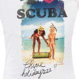 Tee shirt manches courtes I LOVE SCUBA fille CHIPIE marque pas cher prix dégriffés destockage