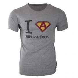 Tee shirt à manches courtes slogan super héros homme FABULOUS ISLAND marque pas cher prix dégriffés destockage