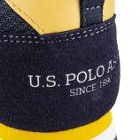 Baskets en toile bi-colores homme US POLO marque pas cher prix dégriffés destockage