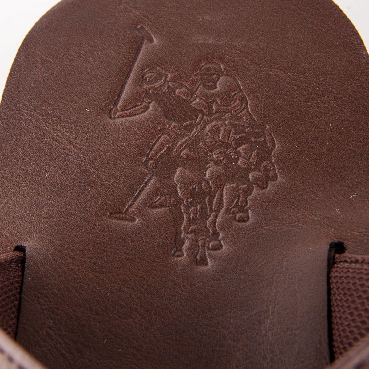 ... Mules simili cuir double bride homme US POLO marque pas cher prix  dégriffés destockage ... 4eac7844e682