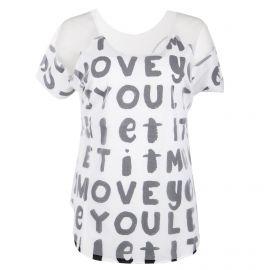 Tee shirt à manches courtes blanc transparent femme ZUMBA marque pas cher prix dégriffés destockage