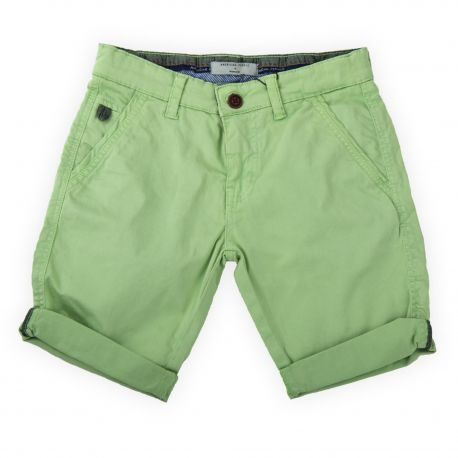 Bermuda en coton vert clair garçon AMERICAN PEOPLE marque pas cher prix dégriffés destockage