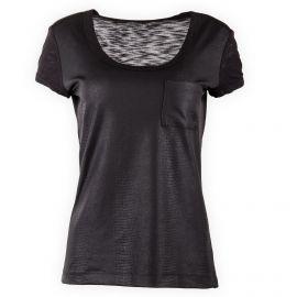 Tee shirt noir effet croco femme CALVIN KLEIN marque pas cher prix dégriffés destockage
