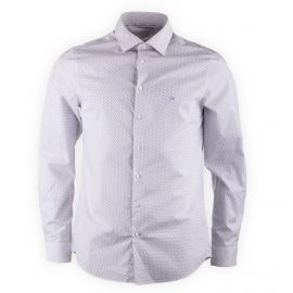 Chemise blanche imprimée homme CALVIN KLEIN marque pas cher prix dégriffés destockage