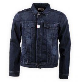Blouson en jean bleu foncé homme Tommy Hilfiger marque pas cher prix dégriffés destockage