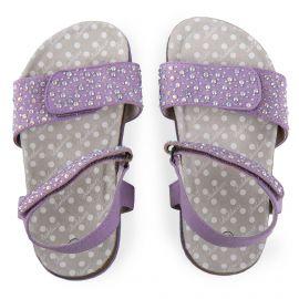 Sandales violettes à strass Lilla Fille BALDUCCI marque pas cher prix dégriffés destockage