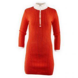 Robe pull orange manches longues femme Courrèges marque pas cher prix dégriffés destockage
