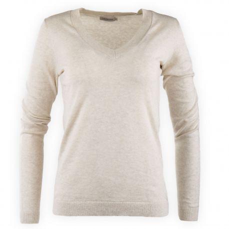 Pull fin en coton cachemire femme Calvin Klein marque pas cher prix dégriffés destockage