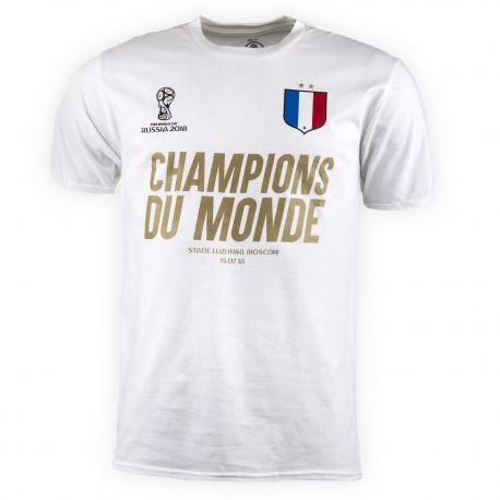 Tee shirt champions du monde homme FIFA marque pas cher prix dégriffés destockage
