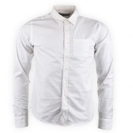 Chemise blanche homme Crossby marque pas cher prix dégriffés destockage