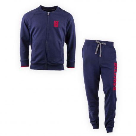 Ensemble jogging bleu marine homme TOMMY HILFIGER marque pas cher prix  dégriffés destockage ae87eb31288