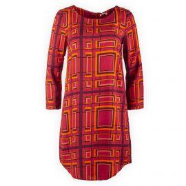Robe rouge graphique femme Best Mountain marque pas cher prix dégriffés destockage