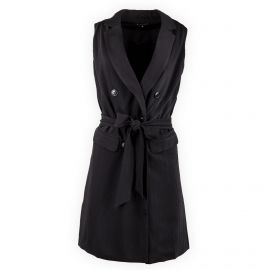 Robe noire blazer sans manche femme Best Mountain