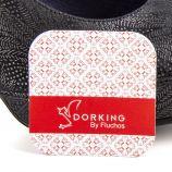 Escarpins daim noirs imprimé femme PALM NEGRO Dorking marque pas cher prix dégriffés destockage
