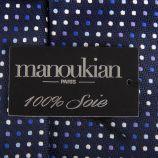 Cravate à rayures et poids 100% soie homme MANOUKIAN marque pas cher prix dégriffés destockage