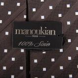 Cravate à pois 100% soie homme MANOUKIAN marque pas cher prix dégriffés destockage