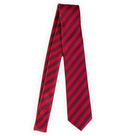 Cravate rayures 100% soie homme MANOUKIAN marque pas cher prix dégriffés destockage