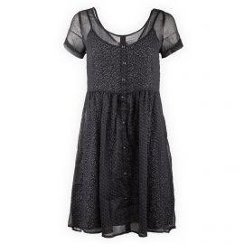Robe plissée à pois manches courtes Femme DDP marque pas cher prix dégriffés destockage