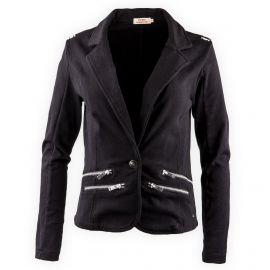 Veste noire matière swet Femme DDP