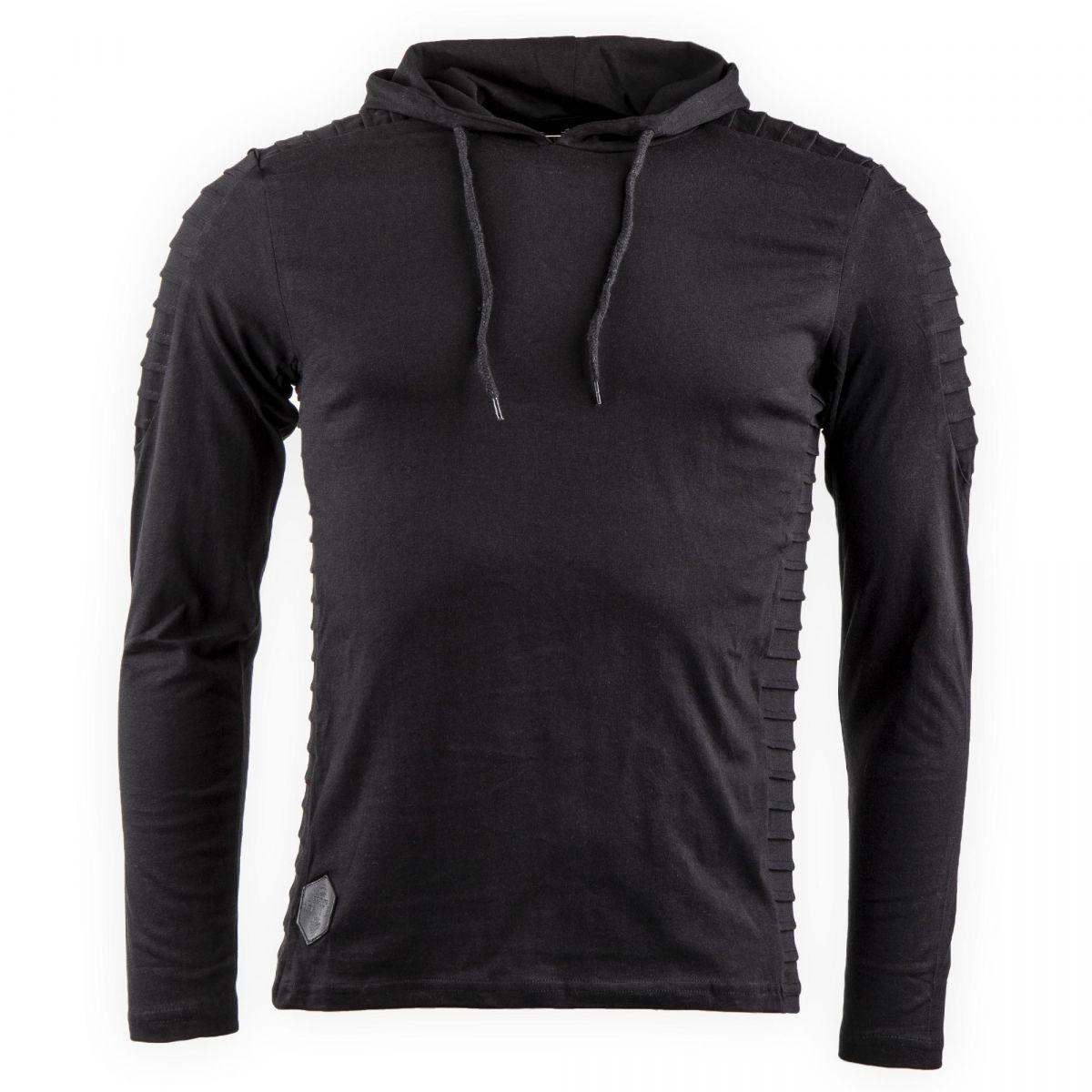tee shirt manches longues avec capuche morevit homme hite. Black Bedroom Furniture Sets. Home Design Ideas