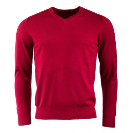 Pull laine cachemire col V coudières homme Real Cashmere