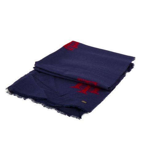 Écharpe fine laine 180cmX65cm femme TOMMY HILFIGER marque pas cher prix dégriffés destockage
