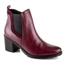 Chaussures bottines bordeaux en cuir et daim onAir femme CAPRICE