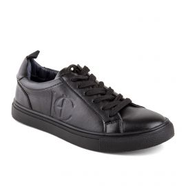 Tennis basses noires femme COSTA BLACK HENRY COTTON'S