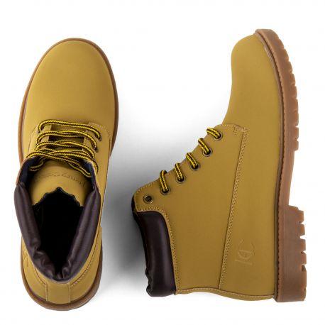 Chaussures montantes femme COSTA MUSTARD/BLACK HENRY COTTON'S marque pas cher prix dégriffés destockage