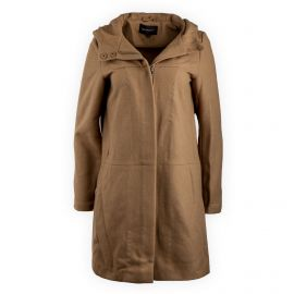 Manteau camel à capuche femme Best Mountain marque pas cher prix dégriffés destockage