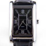 Montre noire rectangulaire bracelet crocodile Homme CHRISTIAN LACROIX marque pas cher prix dégriffés destockage