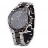 Montre ronde bracelet maillons bicolore Homme CHRISTIAN LACROIX marque pas cher prix dégriffés destockage
